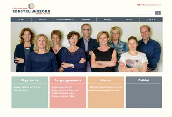 Screenshot van de website GEZ Midden Betuwe