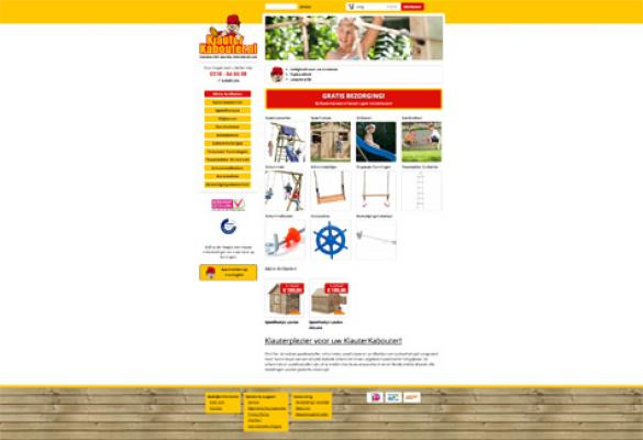 Screenshot van Klauter Kabouter website
