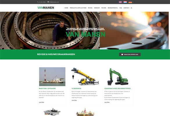 Screenshot website Van Manen Draaikransen